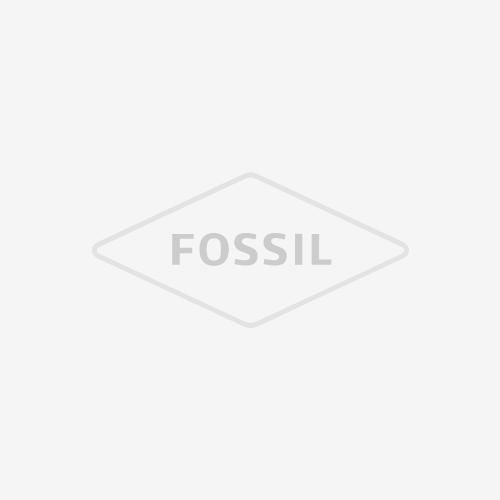 Essentialist Three-Hand Black Leather Watch