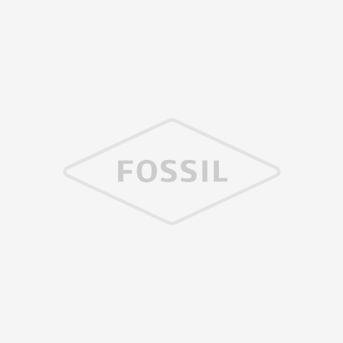 Limited Edition Fossil x Crosley Three-Hand Black Leather Watch