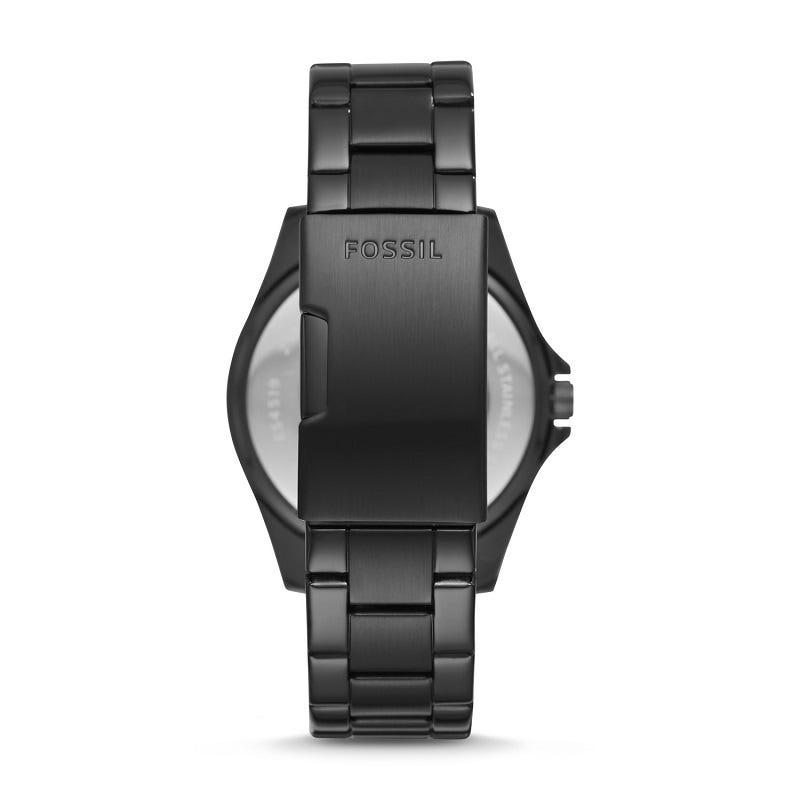 Riley Multifunction Black Stainless Steel Watch