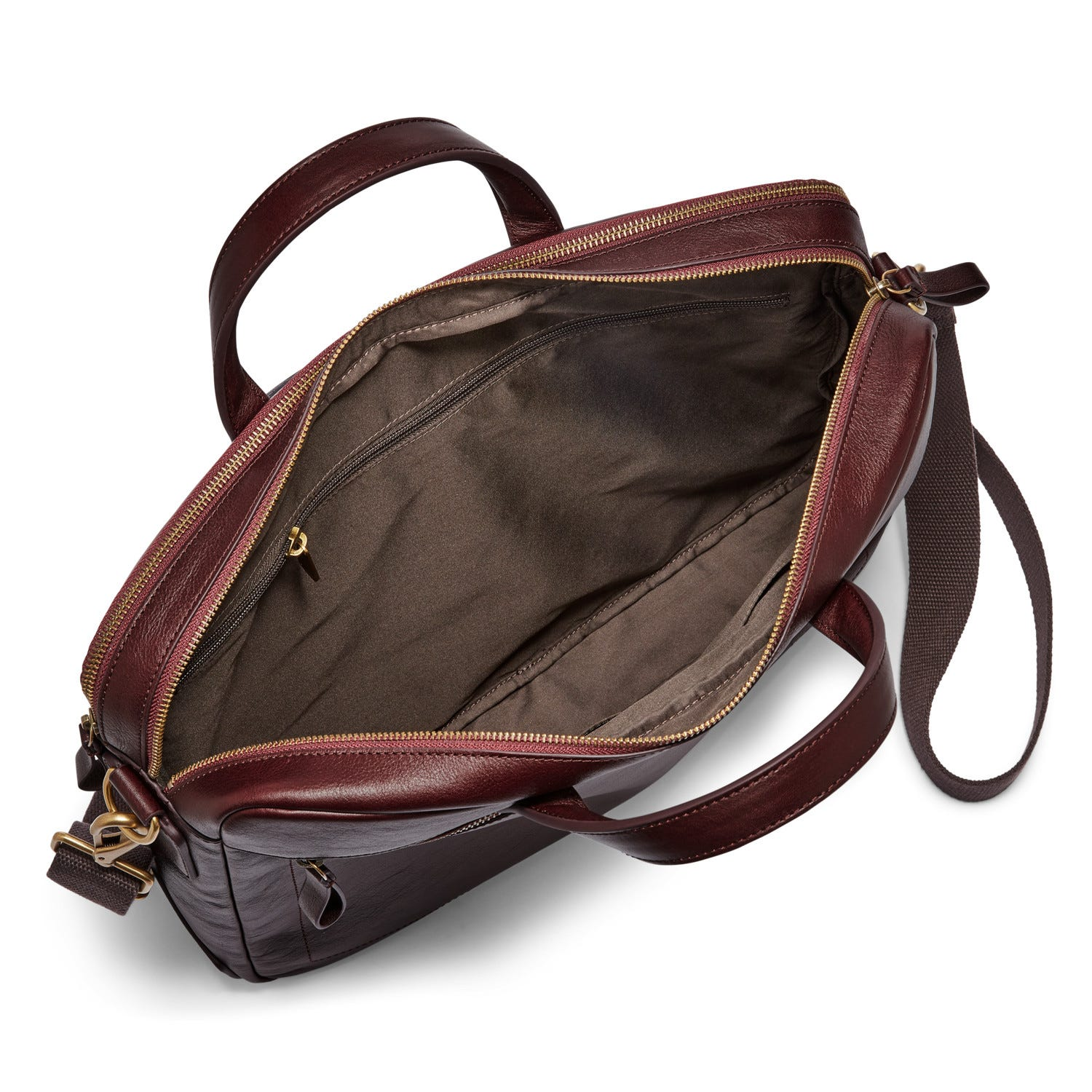 Haskell Double Zip Workbag Black Cherry