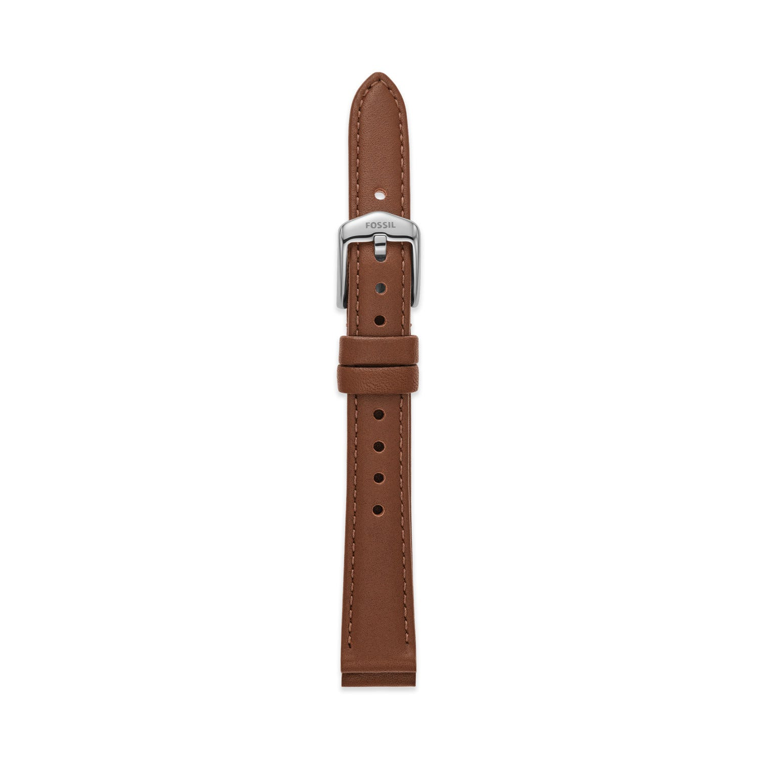 14mm Espresso Leather Watch Strap