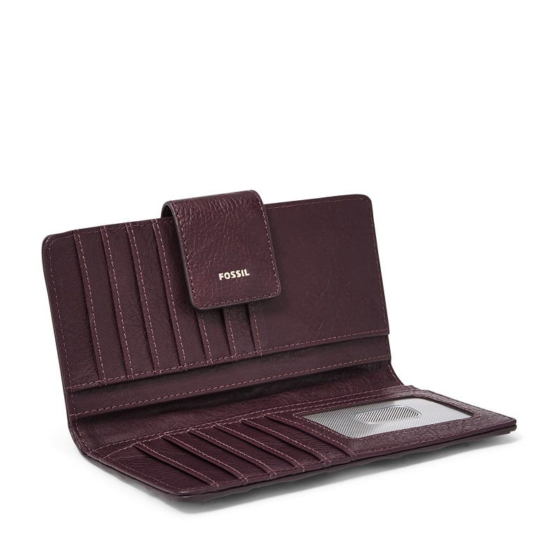 Logan RFID Tab Clutch Purple Multi